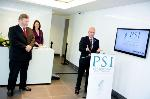 Immediate PSI Past President Paul Fahey speaking at PSI House opening