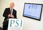 Mr Paul Fahey speaking at opening of PSI House